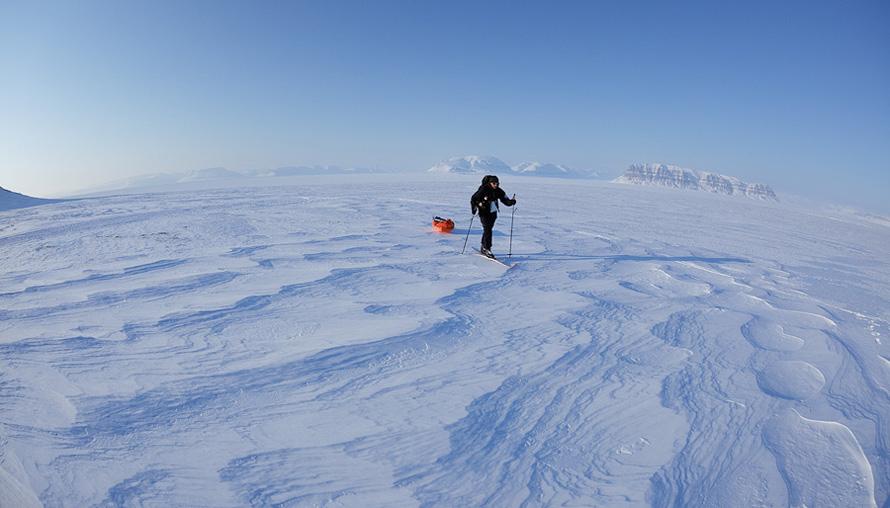 Timo Palo talle omase maastiku keskel. Foto: Jarek Jõepera